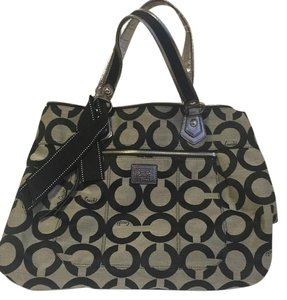 Coach Satchel in Grey/Black