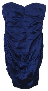 Express Satin Evening Strapless Fitted Fall Dress