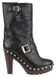 Jimmy Choo Leather Italian Black Boots