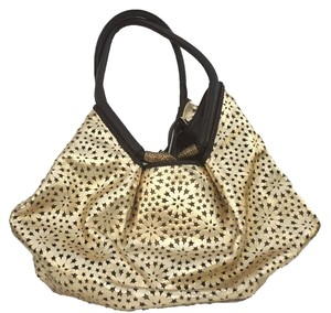 Jimmy Choo Star Snake Clasp Leather Handle Hobo Bag