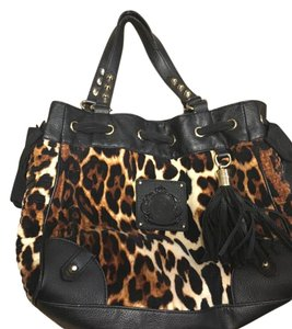 Juicy Couture Tote in Black/Leopard