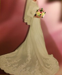 La Sposa Modest With High Neck Wedding Dress