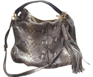G.I.L.I. Leather Snakeskin Hobo Bag