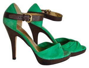Michael Kors Green/Brown Platforms