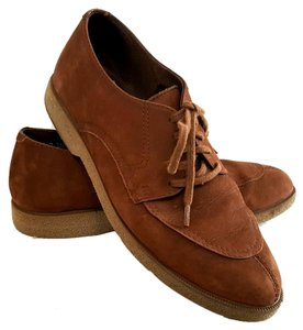Clarks Leather Suede Vintage Classic Brown Flats