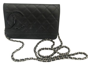 Chanel Lambskin Quilted Wallet On Chain Cross Body Bag
