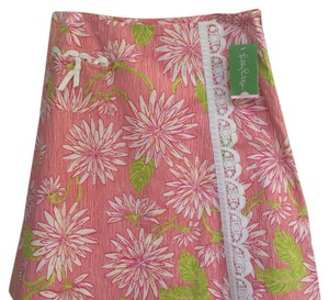 Lilly Pulitzer Skirt pink, white & green w/some yellow