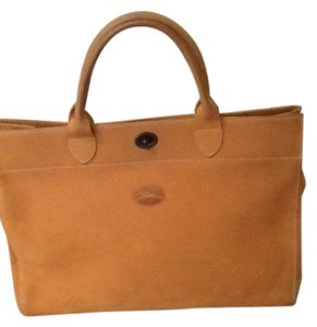 Longchamp Satchel in Camel