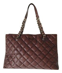 Kate Spade Quilted Chain Gold Tote in Brown