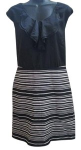 Ann Taylor LOFT Formal Evening Ruffled Striped Dress