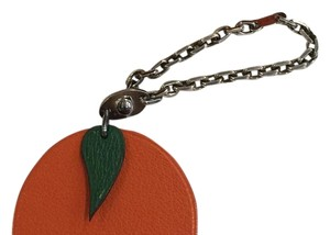 Hermès Hermes Apple Leather Charm Key Chain W/Hermes Box And Ribbon