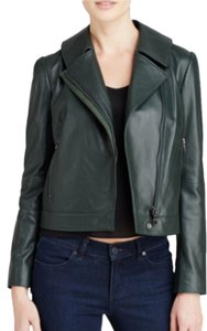 Tory Burch Leather Green Leather Jacket