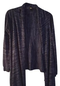 DKNY Wrap Heathered Blue Sweater