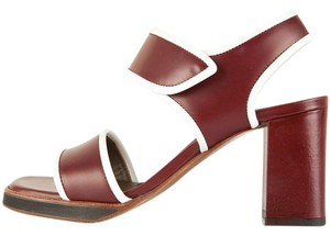 Marni Maroon & White Sandals