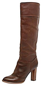 Dolce&Gabbana Dolce & Gabbana Pebble Leather Knee Hi Brown Boots