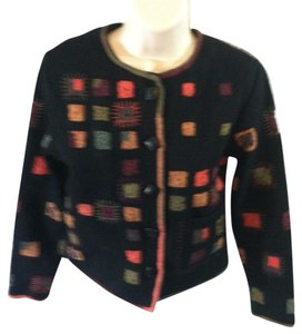 Other Jacket Wool Blend Artsy Casual Coat Black Multi-Color Blazer