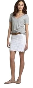 J.Crew #eyelet Mini Mini Skirt White