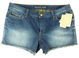 Michael Kors Frayed Vintage Wash Cut Offs Shorts Denim