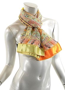 Etro ETRO Multi Color NWT Silk Chiffon Scarf/Shawl Flowers
