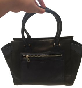 Coach Satchel in Black and Navy