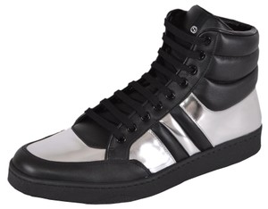 Gucci Men's Sneakers Silver and Black Athletic