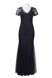 Adrianna Papell Beaded Gown Godet Dress