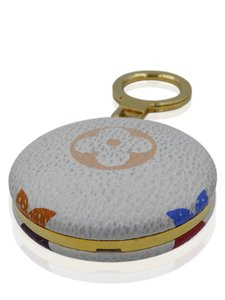 Louis Vuitton Louis Vuitton White Murakami Round flashlight Keychain