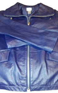 Chico's Navy Leather Jacket