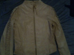 Baby Phat Leather Tan Leather Jacket