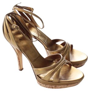 Casadei Gold Platforms