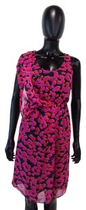 MM Couture short dress Pink and Purple Empire Waist on Tradesy