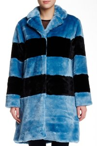 Marc by Marc Jacobs Faux Fur Striped Fur Coat