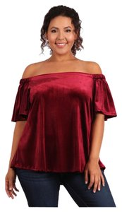 Plus Size Curvy Off Shoulder Tunic