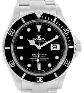 Rolex Rolex Submariner Black Dial Automatic Stainless Steel Watch 16610