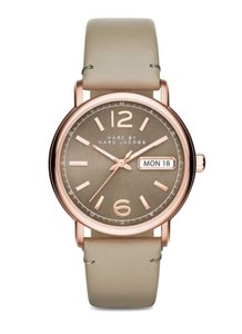 Marc by Marc Jacobs Marc Jacobs Women's Fergus Three Hand Leather Watch MBM1385