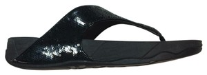 FitFlop Sequined Size 9 Black Sandals