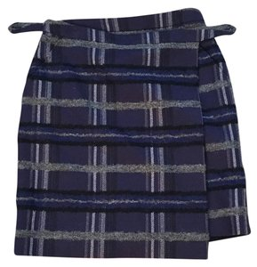 Akris Punto Skirt Blue plaid