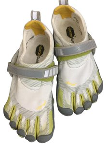 Vibram White, green, reflective silver Athletic