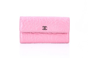 Chanel * Chanel Pink Lambskin Camellia