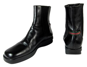 Gucci Black Leather Short Moto Boots