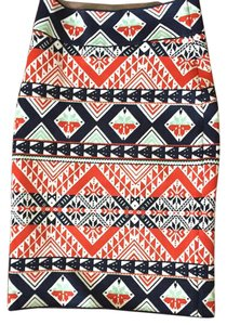 BCBGMAXAZRIA Mini Skirt Multi - red, navy, white and mint