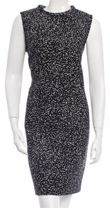Black and White Maxi Dress by Proenza Schouler Lace Weave Rounded Collar