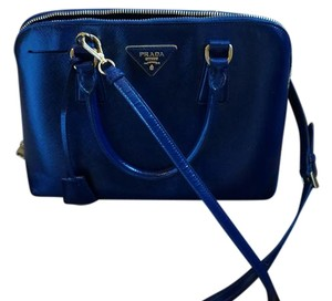 Prada Tote Leather Satchel in Navy