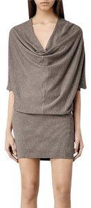 AllSaints short dress Mist Marl Blouson Stretchy on Tradesy