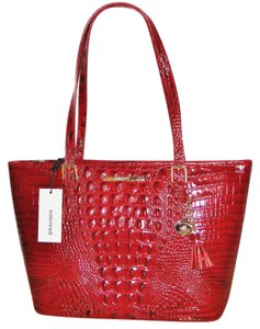 Brahmin Asher Melbourne Tote in Carmine Red