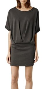 AllSaints short dress Washed Black Bloused Mini Dark Gray Cotton on Tradesy