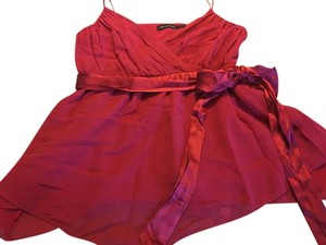 The Limited Silk Strappy Holiday Top Red