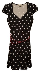 A'GACI short dress navy blue polka dot on Tradesy