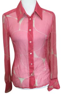 Gucci Button Down Shirt Pink Salmon