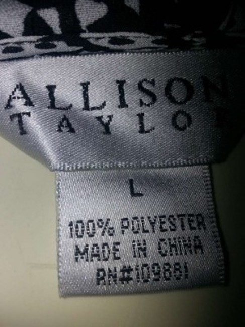Allison Taylor Top Black print on white